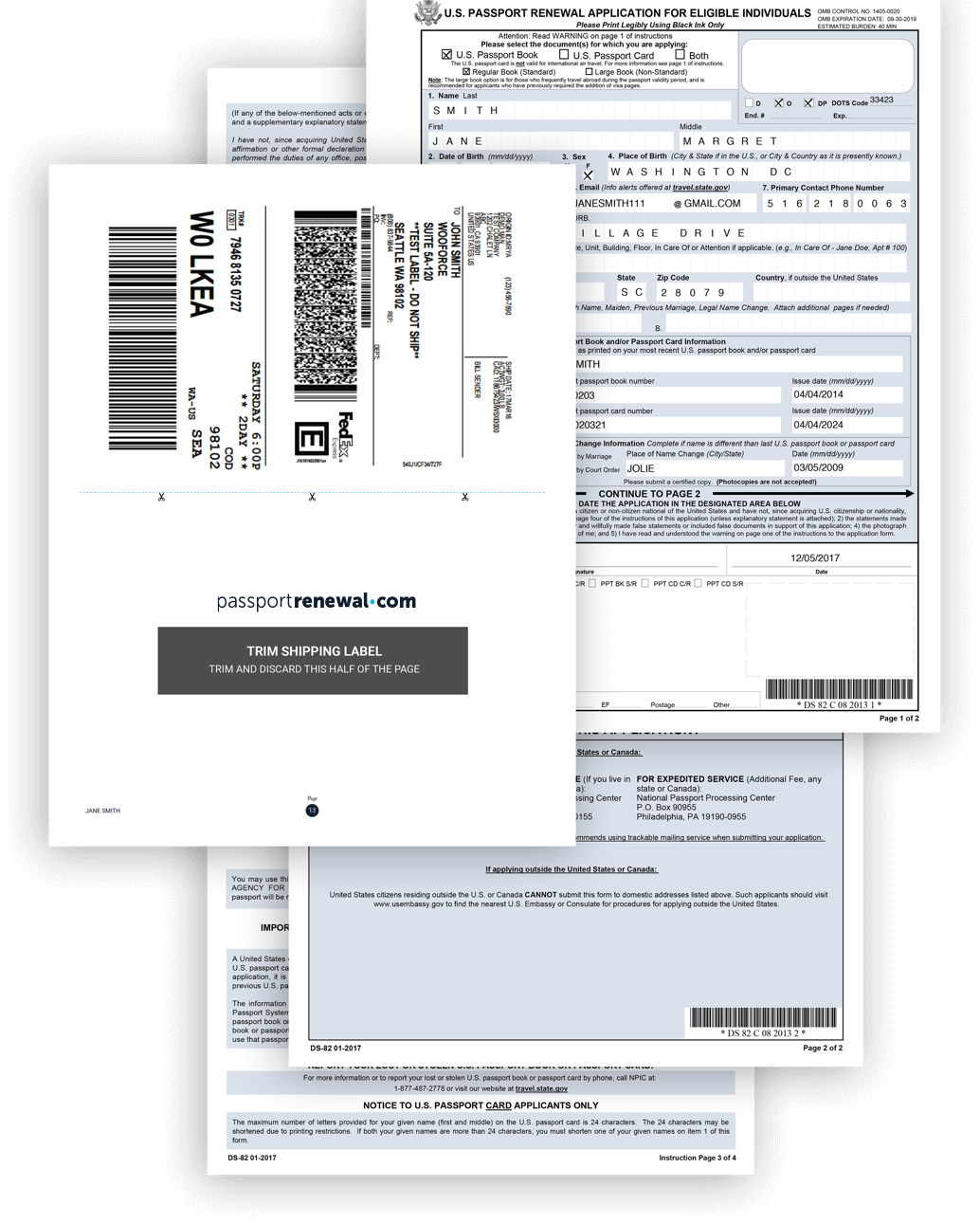 Downloadable documents packet examples
